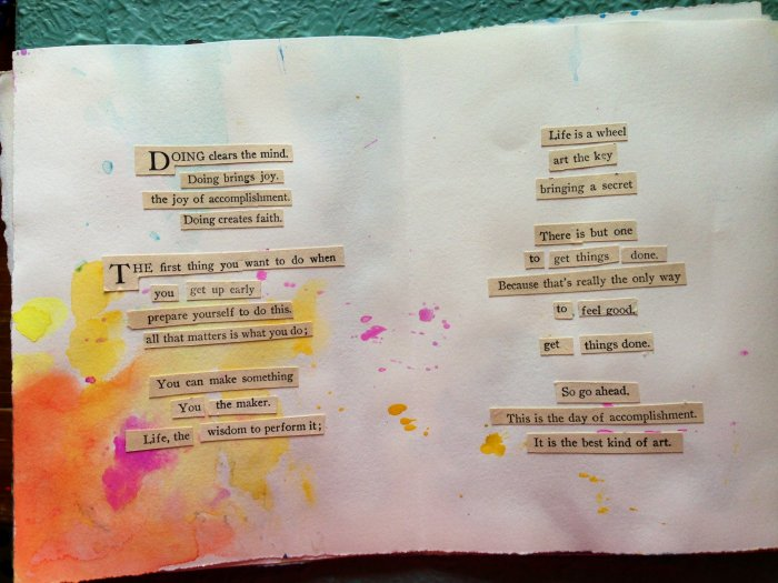 Found Poetry Journal Interior Spread