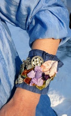 Mixed Media Fabric Cuff