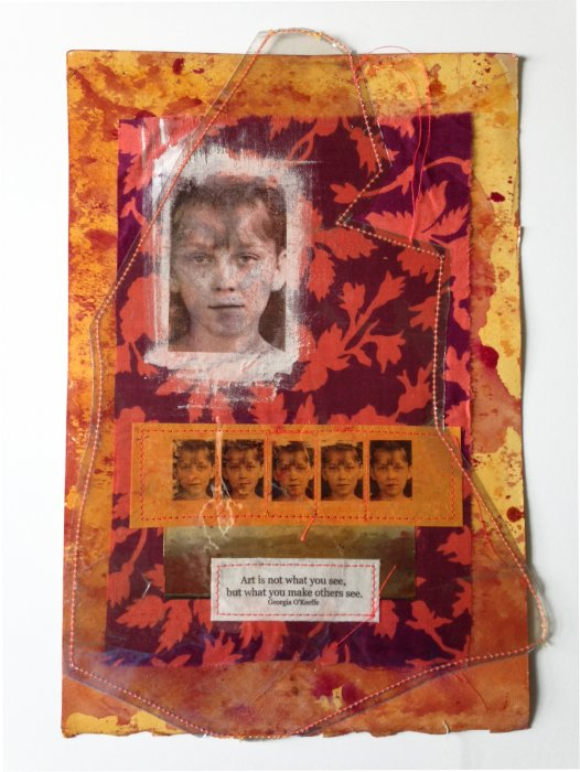 Mixed Media Fabric Collage 3