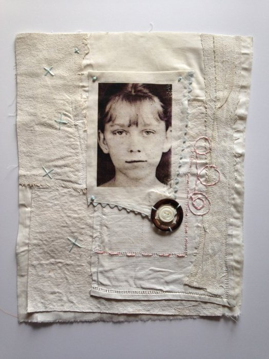 Mixed Media Fabric Collage 4