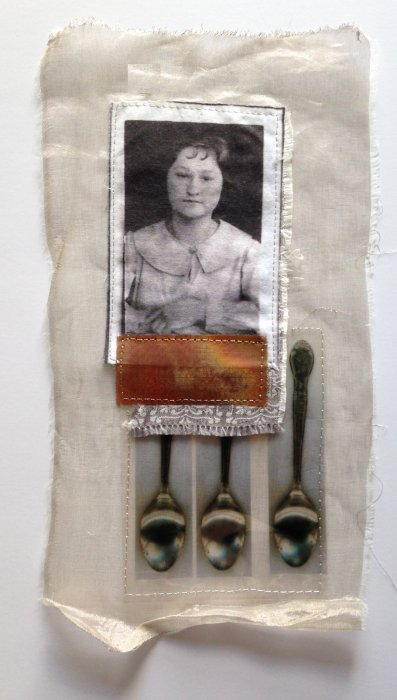 Mixed Media Fabric Collage 5