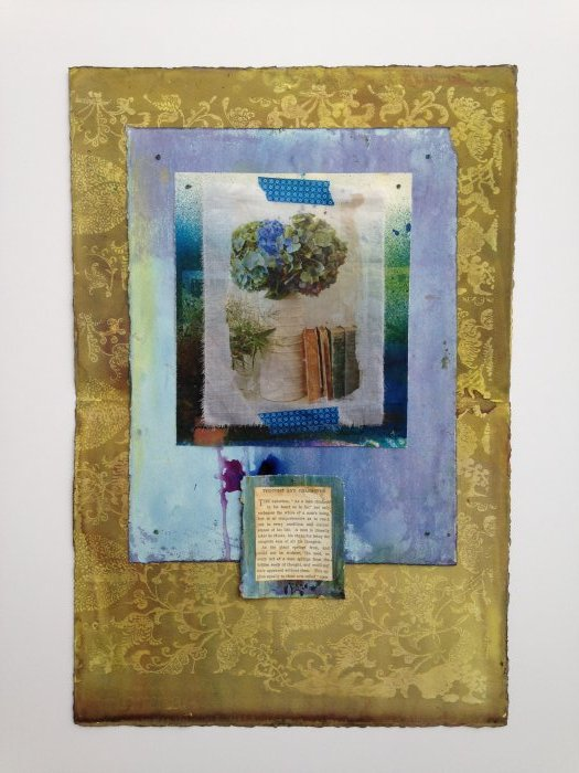Mixed Media Collage - Thought & Character