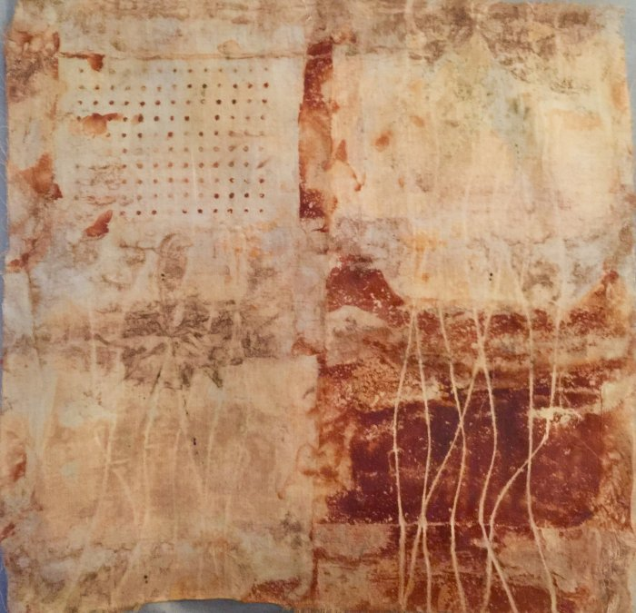 Surface Design - Rusted Fabric