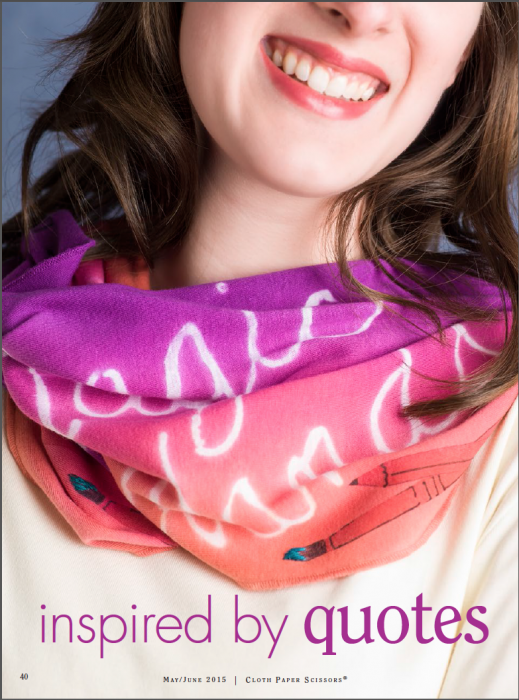 Quote Infinity Scarf - Resist Dyed + TAP Transfers
