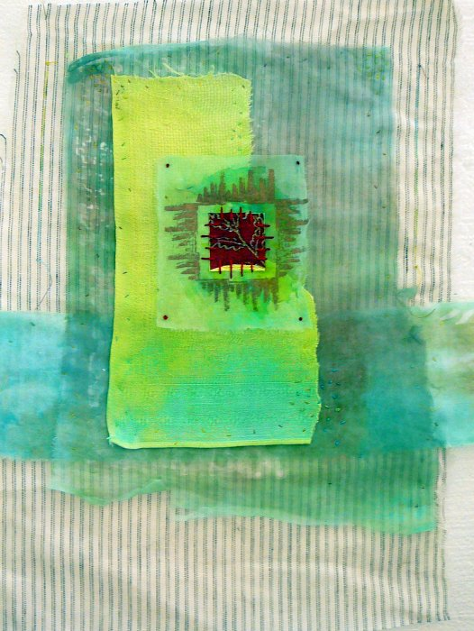 Surface Design - Dyed & Hand-stitched