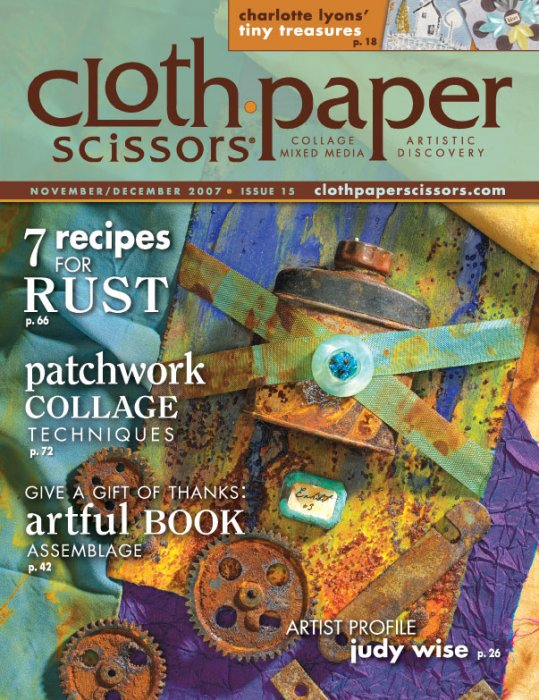 Cloth Paper Scissors Cover - Issue 15