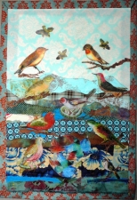 Bird Quilt with TAP & Lutradur